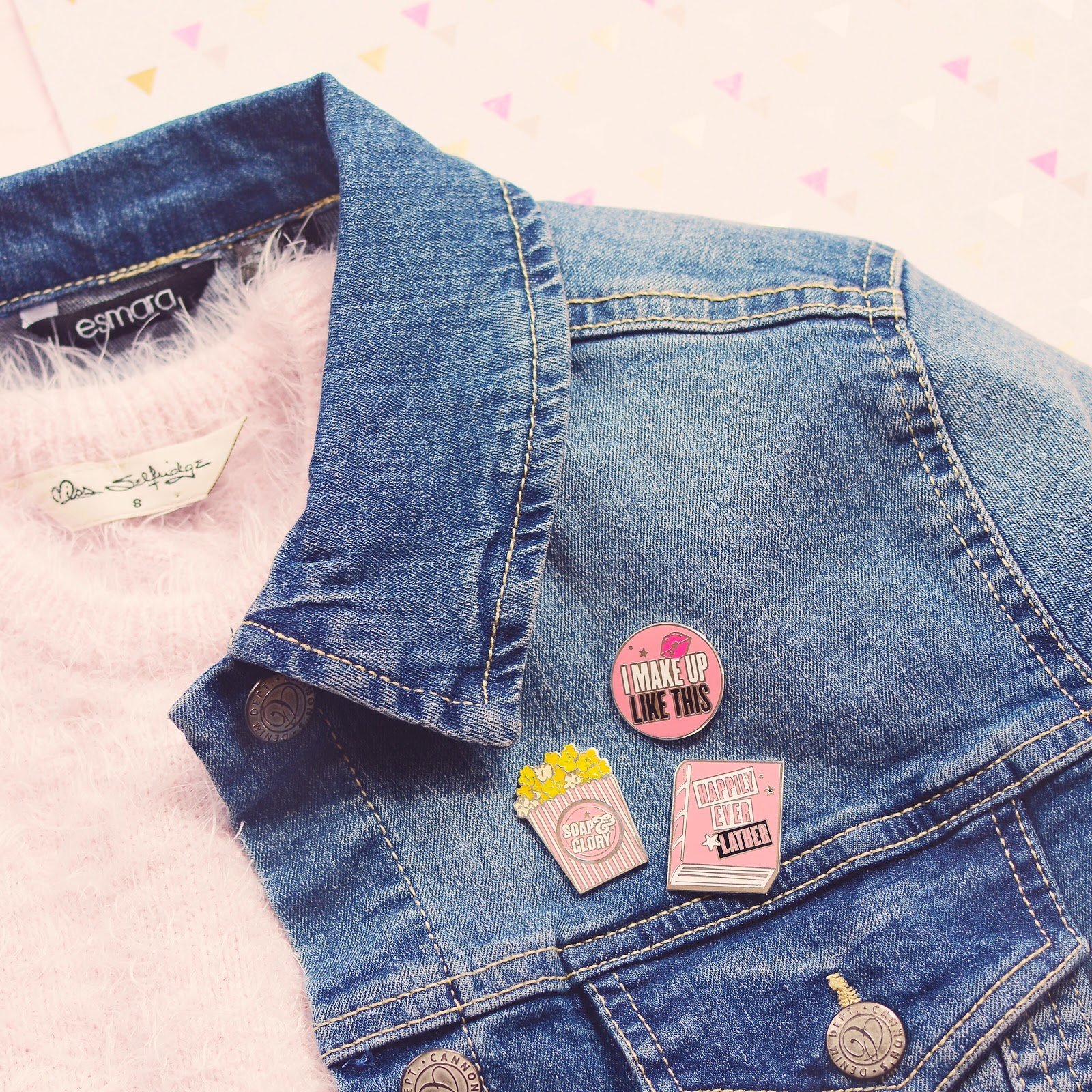 soap and glory enamel pins