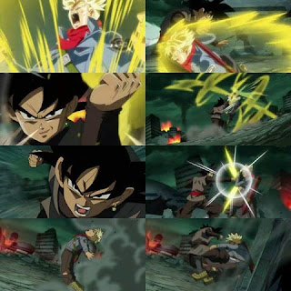 Black Goku vs Trunks