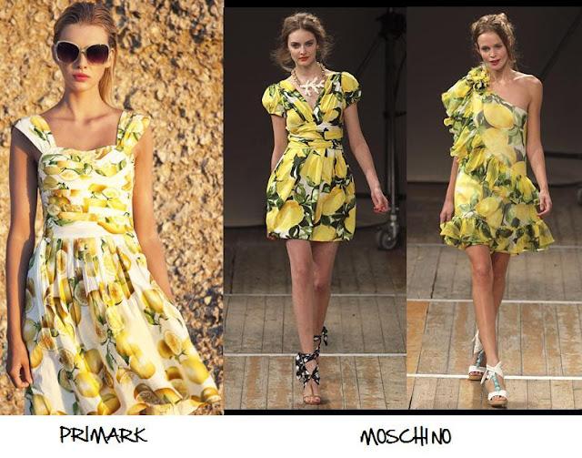Clones 2011 vestido estampado Limones Moschino