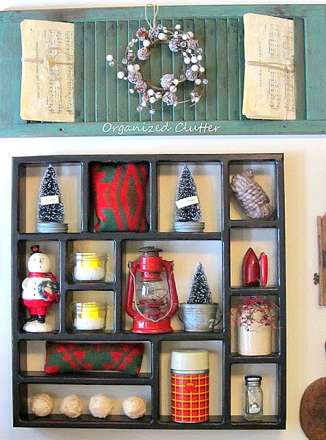 Rustic Christmas Shadow Box organizedclutter.net
