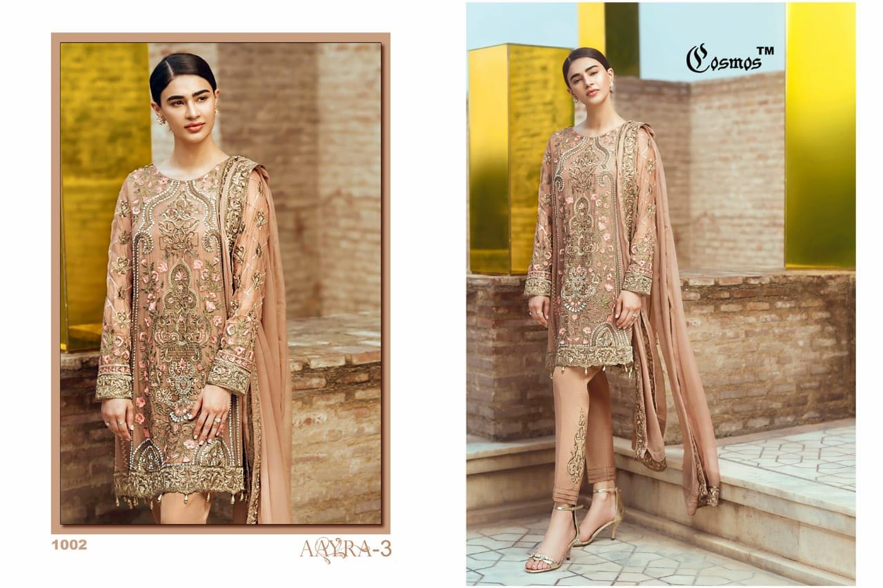 a7c6876e31 Cosmos Aayra vol 3 pakistani Suits 2018 Latest Collection ...