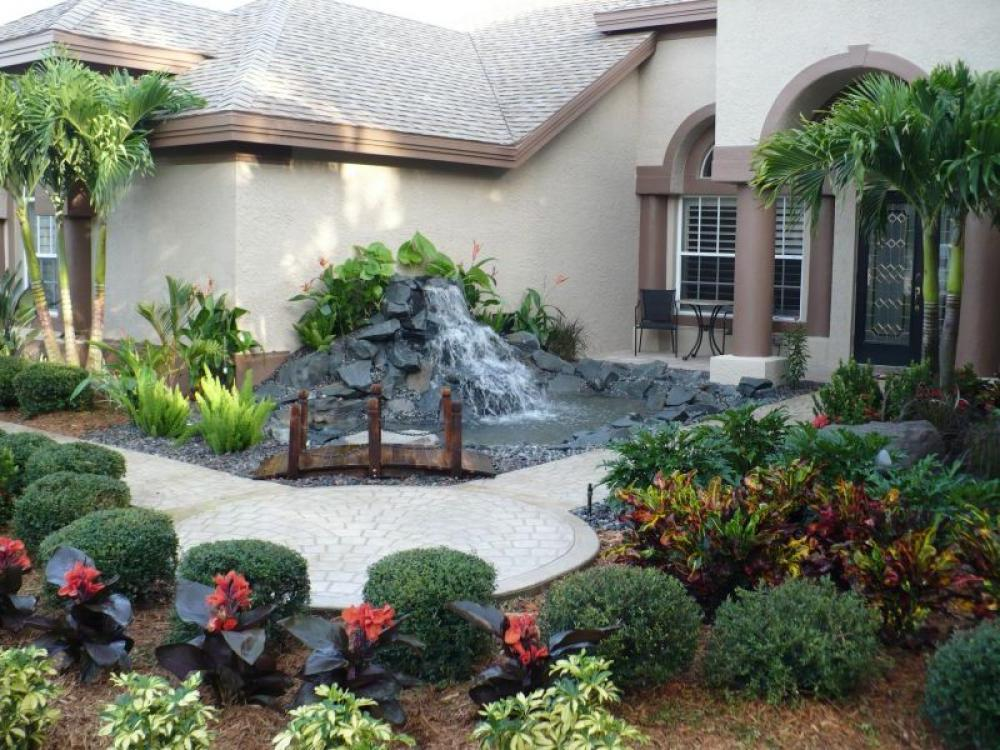 Best 10 Landscaping Ideas For Your Backyard or Front yard ... on Front Yard Waterfall Ideas id=94953