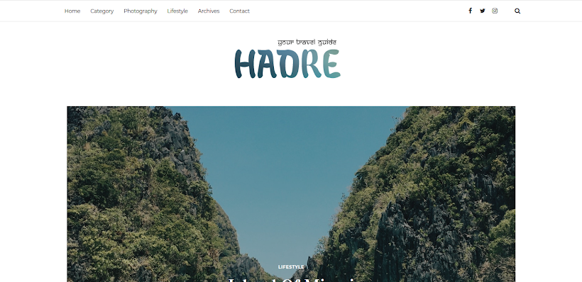Hadre Free Blogger Template