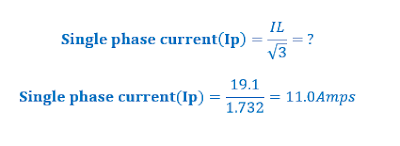 MCB Current Calculation
