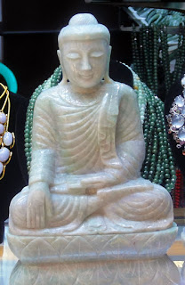 magnificent sitting jadeite jade Buddha