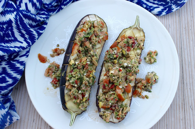 loaded aubergine