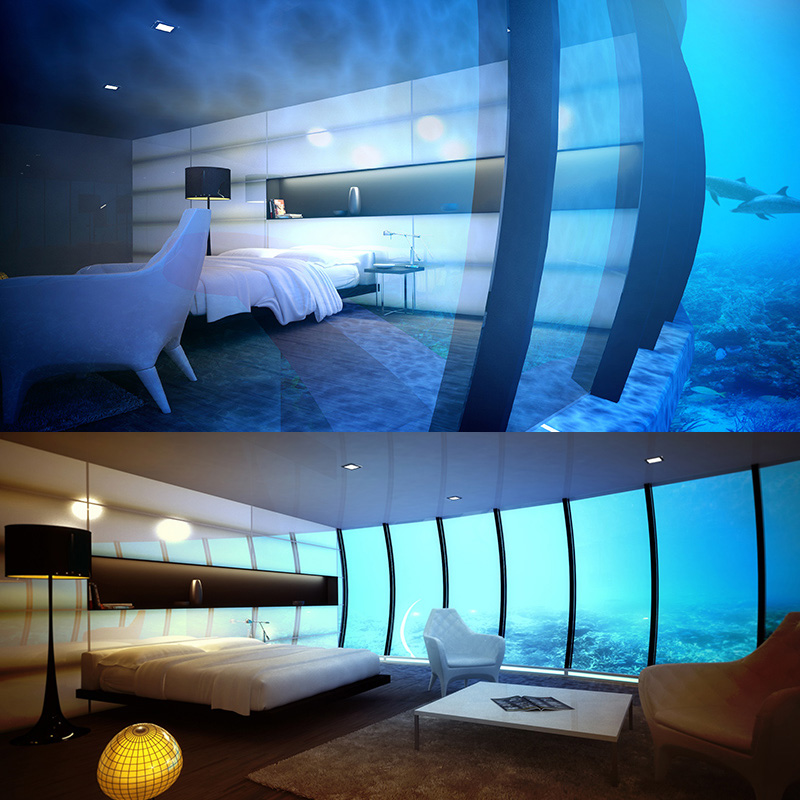 Aquarium Hotel Room California