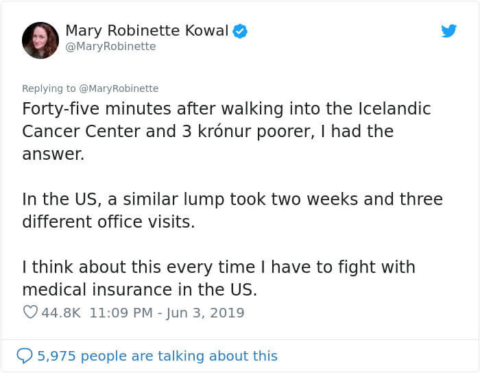 American Woman Found A Lump While In Iceland, And Shared How Great Their Healthcare Is Compared To The United States