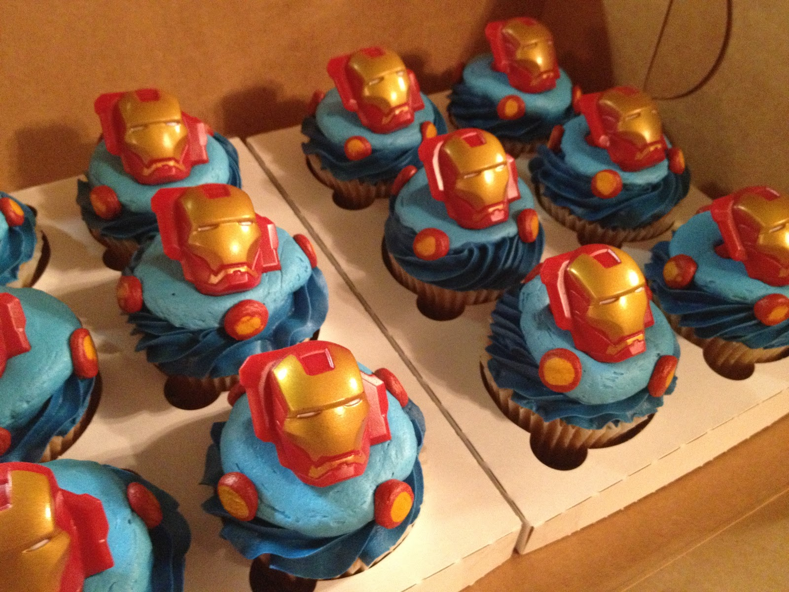 Cakecreated Iron Man Cup Cakes