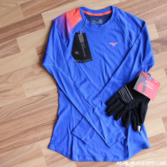 running, running gear, winter running clothes, fitness fashion, Mizuno, cold weather running gear