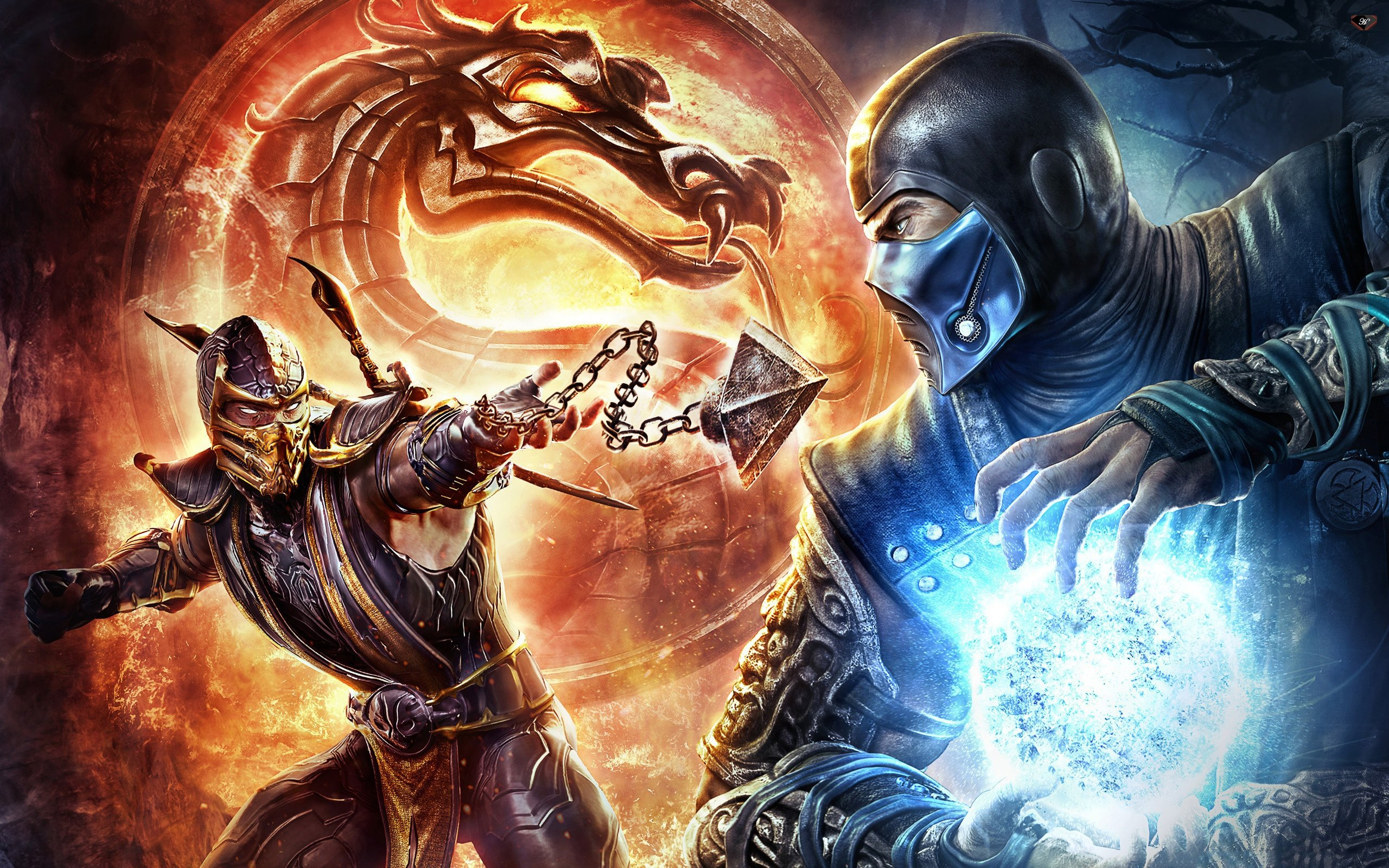 mortal kombat x scorpion vs sub zero wallpaper
