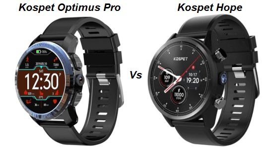 Kospet Optimus Pro Vs Kospet Hope Smartwatch Comparison