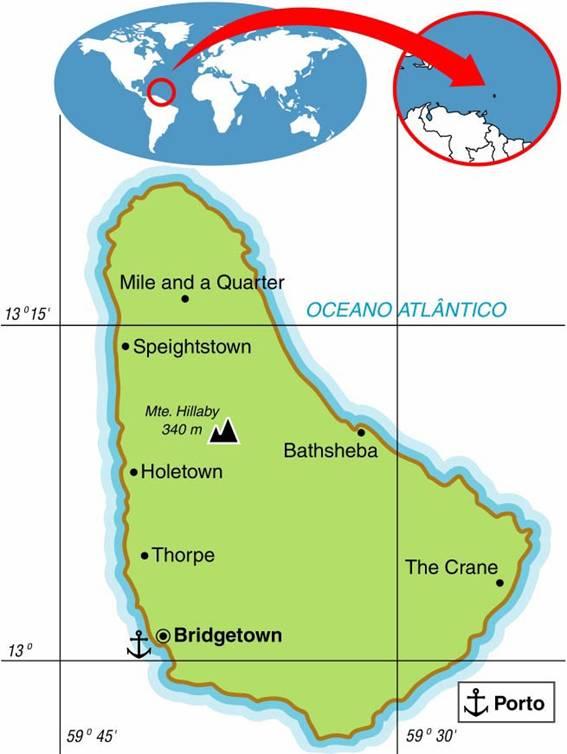 Barbados, Aspectos Geográficos e Socioeconômicos da Ilha de Barbados