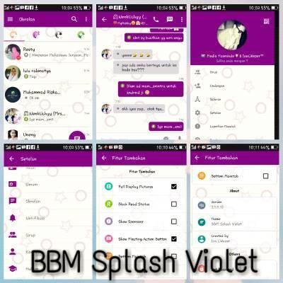 BBM Mod Splash Violet V3.0.0.18
