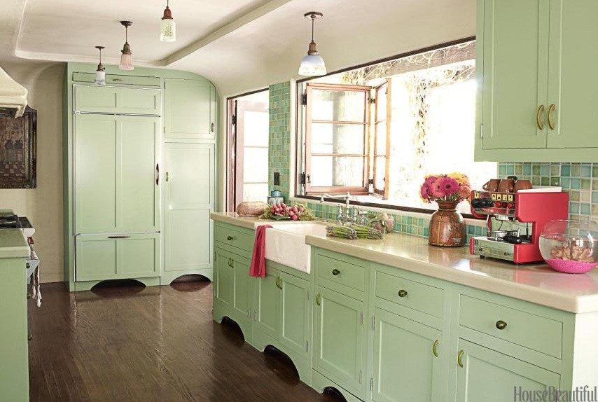 Vintage Green Kitchen Cabinets Lifestyle In Blog: How To Make Mint Green Color Work