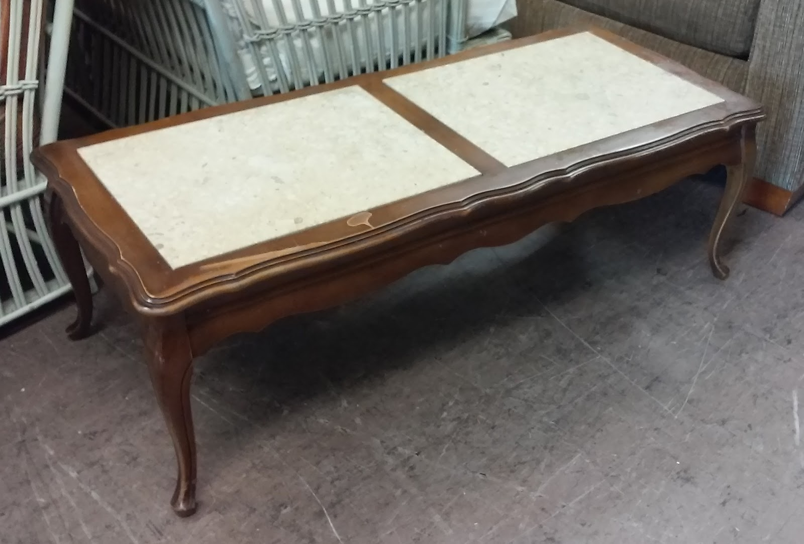 Uhuru Furniture Collectibles Sold 43 French Marble Top Coffee Table 30