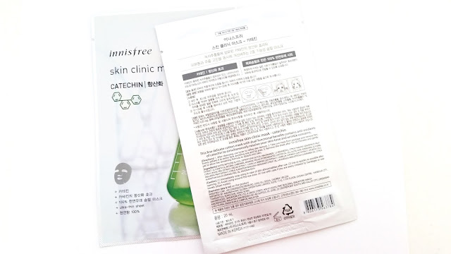 Innisfree Skin Clinc Mask Catechin packaging