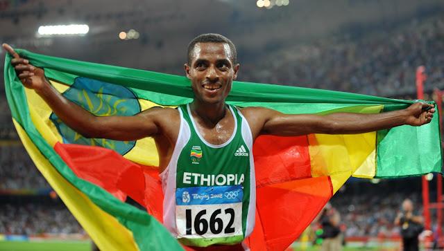 Mwanariadha wa Ethiopia, Kenenisa Bekele. Picha/Getty Images
