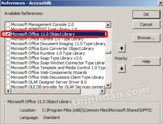 microsoft office 11.0 object library