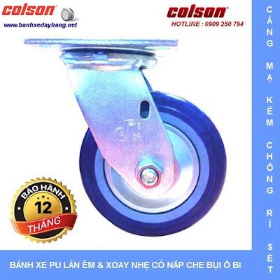Bánh xe PU lõi PP, bánh xe đẩy chịu tải trọng ( 243 - 370kg/bánh ) www.banhxeday.xyz