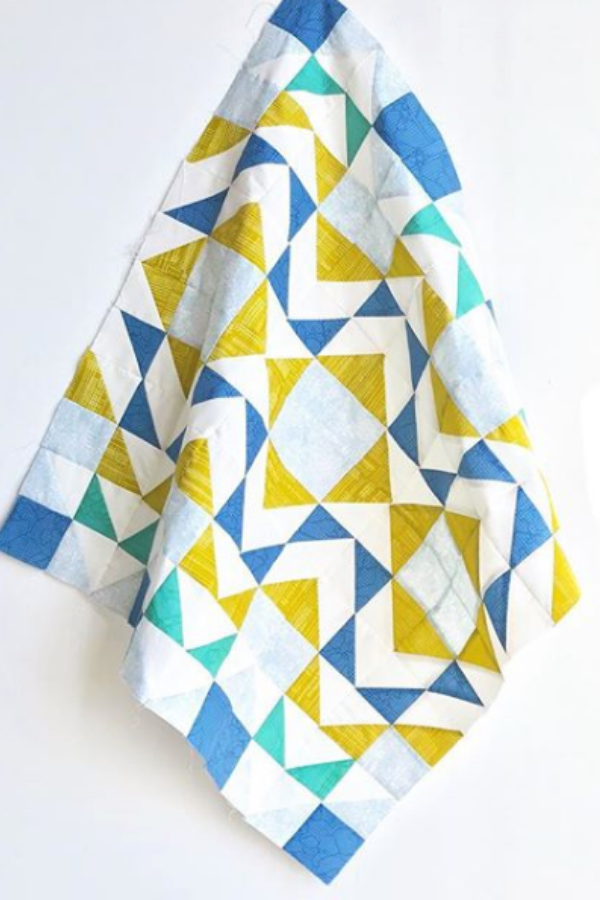 Mini Modern Aztec Quilt made by A Little Patchwork | Shannon Fraser Designs