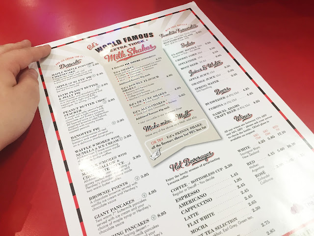 Ed's Easy Diner menu