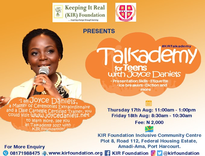 TALKADEMY FOR TEENS WITH JOYCE DANIELS