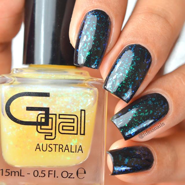 Glitter Gal Coober Pedi Green