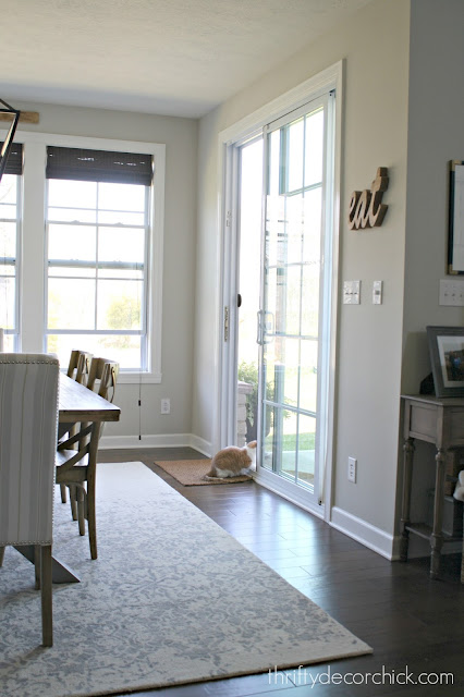 Sliding glass doors with panes