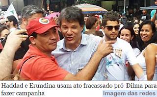 Haddad e Erundina usam ato Fora Temer para fazer campanha eleitoral