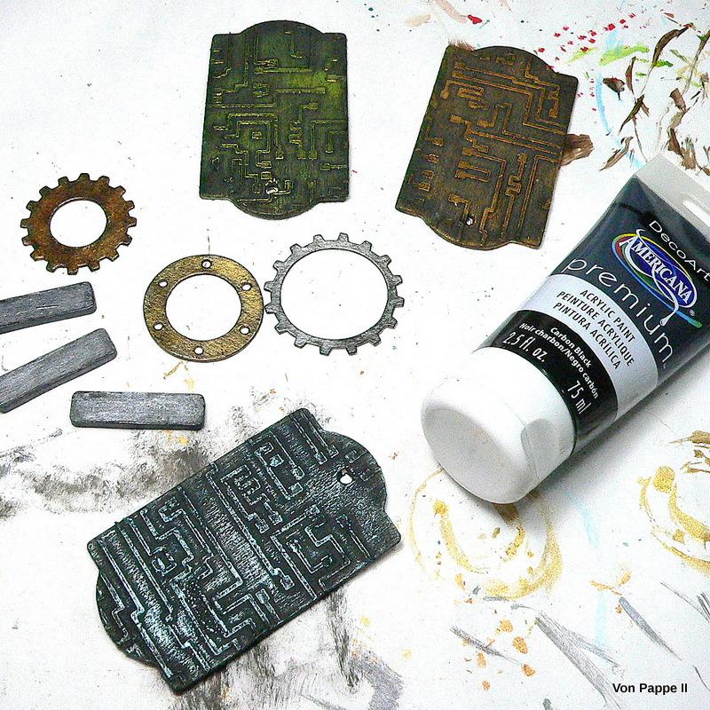 Dry Brushing Metallic Paint
