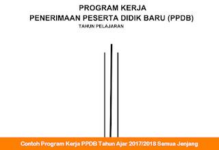 Contoh Program Kerja PPDB Tahun Ajar 2017 2018 Semua Jenjang