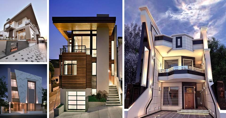 Exterior: Modern Residences Exterior Small Villas Designs Ideas