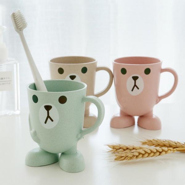 Originality Wheat Straw Can Cartoon Cup Three-dimensional Base Gargle