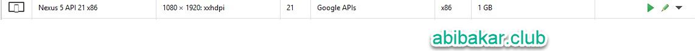 Menjalankan Aplikasi Android AVD Manager Test