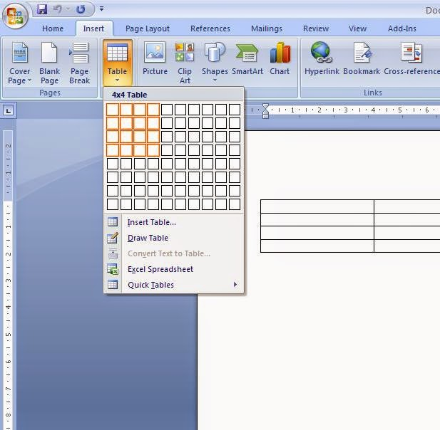 Cara Membuat Tabel Pada Ms. Office Word