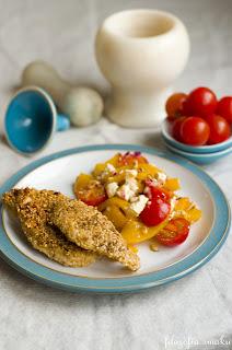 (kurczak w panierce z sezamu
