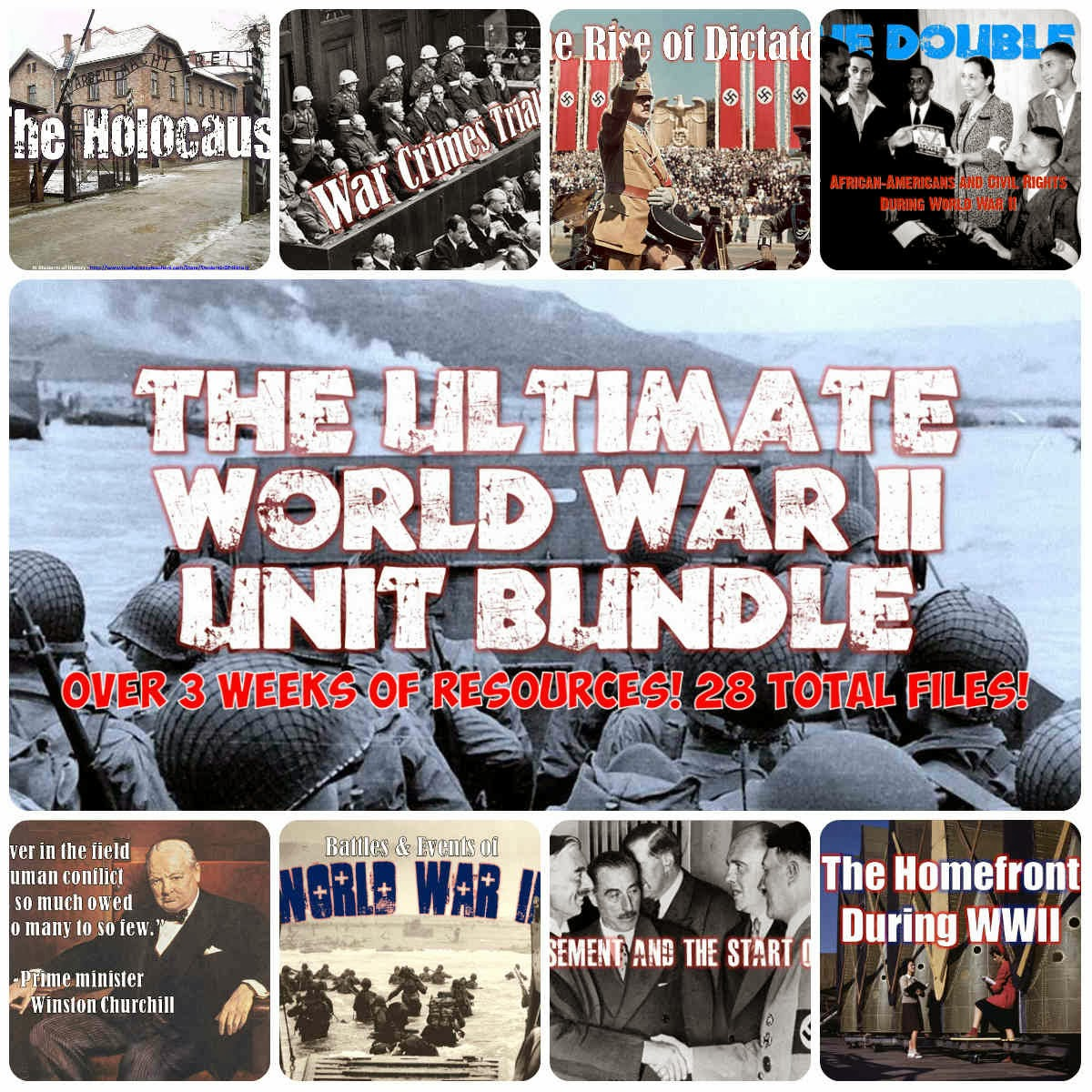 Students Of History Entire World War Ii Lesson Plan Unit Bundle