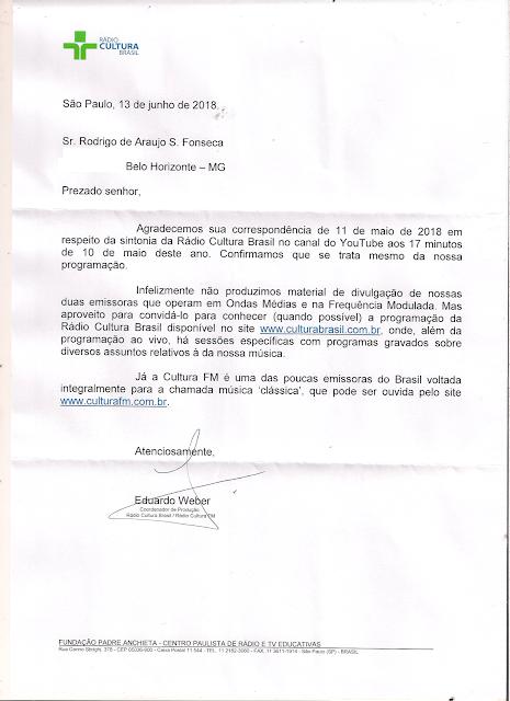 Carta de Confirmação Eduardo Weber Rádio Cultura Brasil