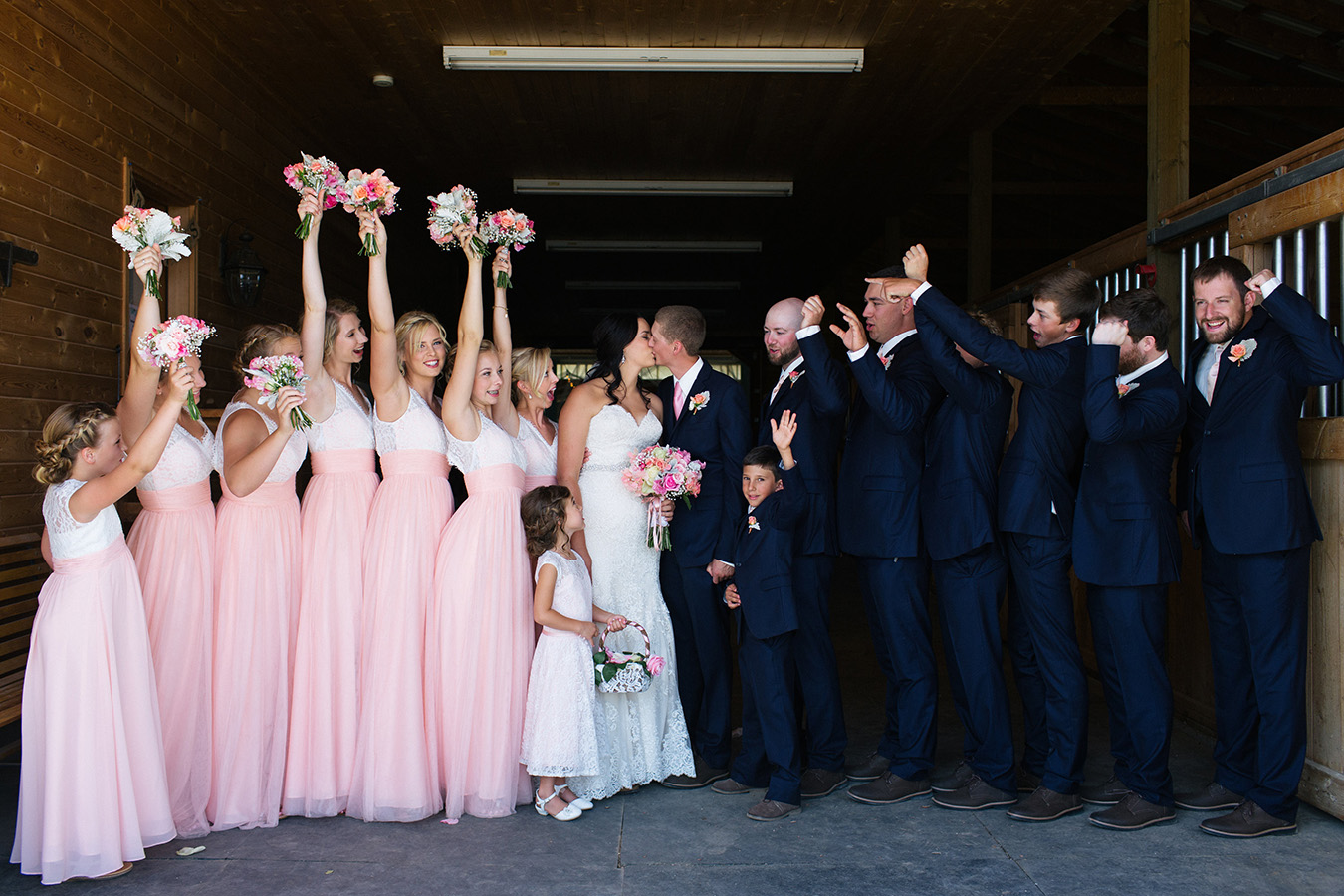 Bride, Montana, Mountains, Groom, Bridal Party