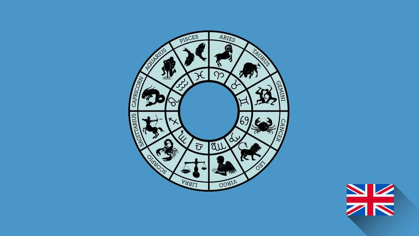 Kosakata Bahasa Inggris Zodiak Disertai Gambar, Audio Dan Pronunciation