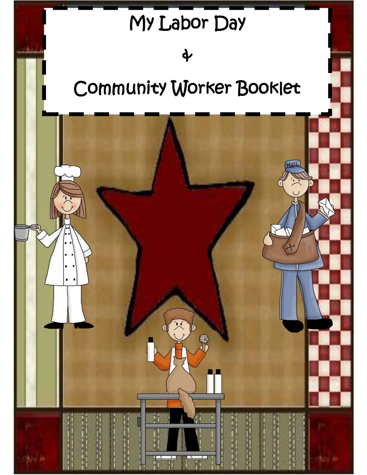 Engaging Lessons And Activities Labor Day Activity Booklet Only 50 Cents