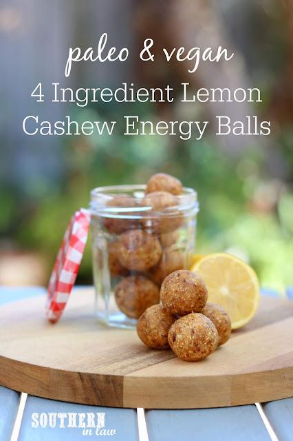 Raw Vegan Lemon Cashew Energy Balls Recipe - paleo bliss balls, energy bites, protein balls, healthy, gluten free, grain free, sugar free, peanut free