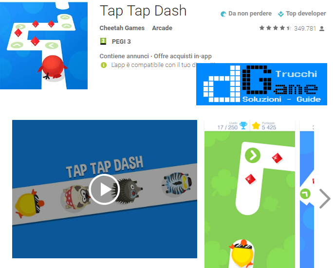 Trucchi Tap Tap Dash Mod Apk Android v1.78