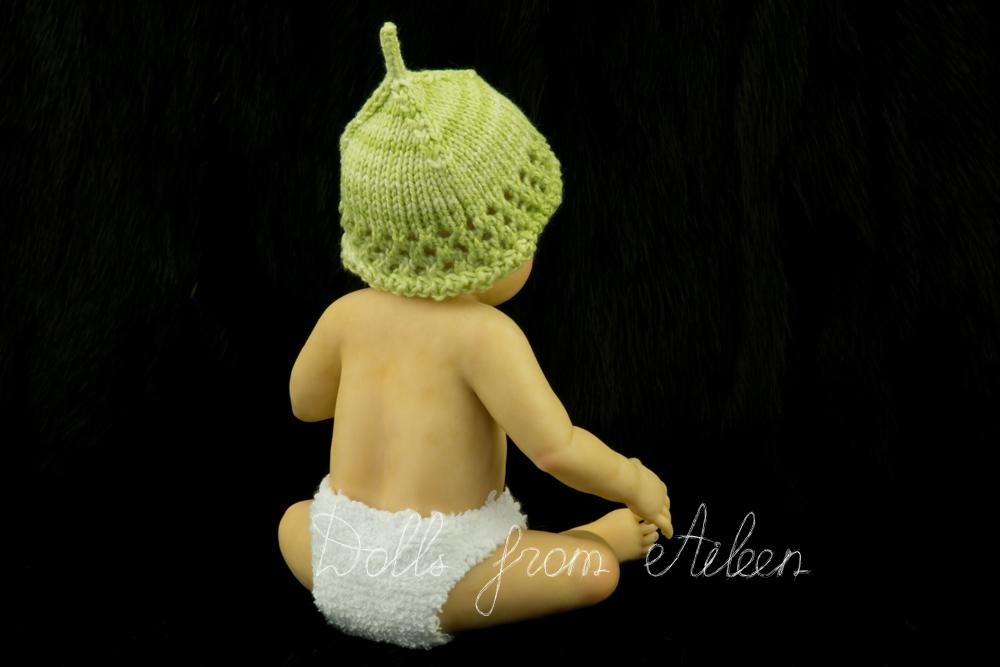 OOAK anatomically correct sitting baby girl doll's back