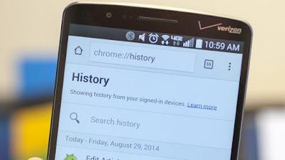 Membersihkan Cache dan History Internet di Android
