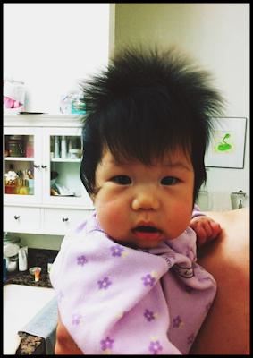 uzun saçlı bebek resimleri