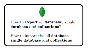 MongoDB export and Import databases with Example