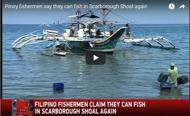 Pinoy fishermen say they can fish in Scarborough Shoal again