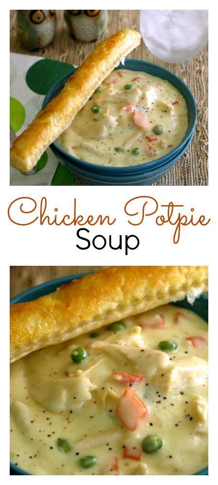 Chicken Pot Pie Soup #dinner #soup #winter #potpie #chicken